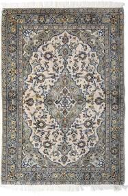 Keshan Rug 98X140 Authentic Oriental Handknotted Light Grey/Dark Grey (Wool, Persia/Iran)