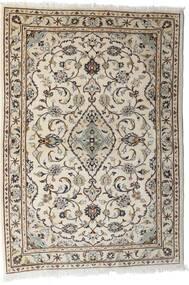 Keshan Rug 103X144 Authentic  Oriental Handknotted Light Grey/Beige (Wool, Persia/Iran)