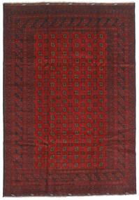 Afghan Rug 202X289 Authentic  Oriental Handknotted Dark Red/Dark Grey (Wool, Afghanistan)