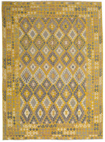 Kilim Afghan Old Style Rug 255X358 Authentic  Oriental Handwoven Yellow/Light Brown Large (Wool, Afghanistan)