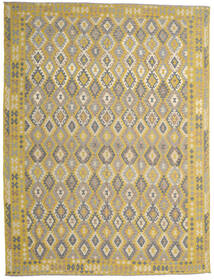 Kilim Afghan Old Style Rug 302X404 Authentic  Oriental Handwoven Light Grey/Yellow Large (Wool, Afghanistan)