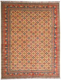 Kunduz Rug 382X488 Authentic Oriental Handknotted Dark Red/Dark Beige Large (Wool, Afghanistan)