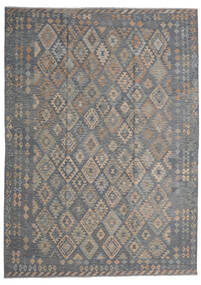 Kilim Afghan Old Style Rug 249X348 Authentic Oriental Handwoven Dark Grey/Light Grey (Wool, Afghanistan)