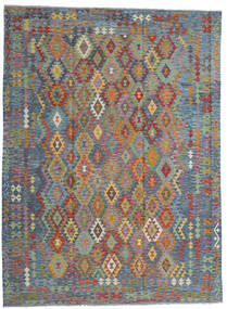 Kilim Afghan Old Style Rug 256X351 Authentic  Oriental Handwoven Light Grey/Light Brown Large (Wool, Afghanistan)