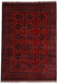 Kunduz Rug 200X284 Authentic  Oriental Handknotted Dark Red (Wool, Afghanistan)