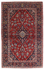 Keshan Rug 98X158 Authentic Oriental Handknotted Dark Red/Dark Blue (Wool, Persia/Iran)