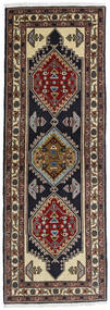 Ardebil Rug 69X197 Authentic  Oriental Handknotted Hallway Runner  Dark Red/Dark Brown (Wool, Persia/Iran)
