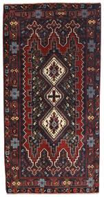 Afshar Rug 85X172 Authentic  Oriental Handknotted Hallway Runner  Dark Brown/Dark Red (Wool, Persia/Iran)