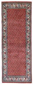 Sarouk Mir Rug 74X204 Authentic  Oriental Handknotted Hallway Runner  Dark Purple/Light Grey (Wool, Persia/Iran)