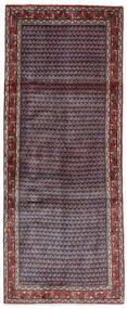 Sarouk Mir Rug 79X195 Authentic  Oriental Handknotted Hallway Runner  Dark Purple/Dark Red (Wool, Persia/Iran)