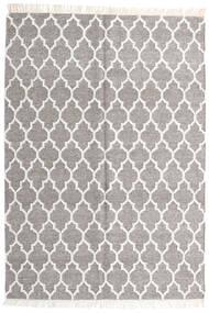Bamboo Silk Kilim Rug 140X200 Authentic  Modern Handwoven Light Grey/Beige (Wool/Bamboo Silk, India)