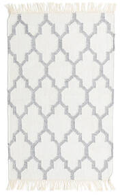 Bamboo Silk Kilim Rug 60X90 Authentic  Modern Handwoven Beige/Light Grey (Wool/Bamboo Silk, India)