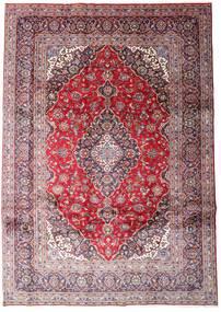 Keshan Rug 248X348 Authentic  Oriental Handknotted Light Purple/Light Pink (Wool, Persia/Iran)