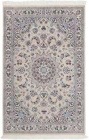 Nain 9La Rug 116X180 Authentic  Oriental Handknotted Light Grey/Dark Brown (Wool/Silk, Persia/Iran)