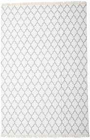 Bamboo Silk Kilim Rug 200X300 Authentic  Modern Handwoven White/Creme/Beige/Light Grey (Wool/Bamboo Silk, India)