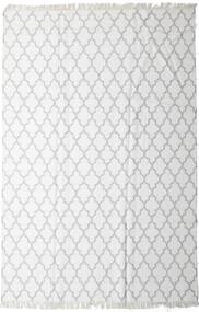 Bamboo Silk Kilim Rug 200X300 Authentic  Modern Handwoven White/Creme/Light Grey (Wool/Bamboo Silk, India)