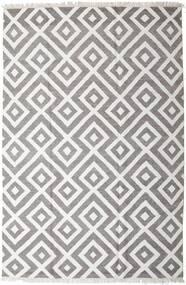 Bamboo Silk Kilim Rug 200X300 Authentic  Modern Handwoven Light Grey/Dark Grey (Wool/Bamboo Silk, India)