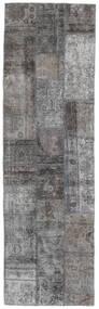 Patchwork - Persien/Iran Rug 75X251 Authentic  Modern Handknotted Hallway Runner  Light Grey/Dark Grey (Wool, Persia/Iran)