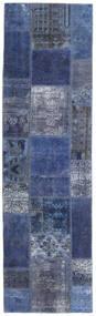 Patchwork - Persien/Iran Rug 73X253 Authentic  Modern Handknotted Hallway Runner  Dark Blue/Light Purple (Wool, Persia/Iran)