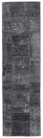 Patchwork - Persien/Iran Rug 71X251 Authentic  Modern Handknotted Hallway Runner  Dark Grey/Light Purple (Wool, Persia/Iran)