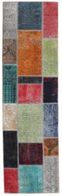 Patchwork - Persien/Iran Rug 73X253 Authentic  Modern Handknotted Hallway Runner  Dark Grey/Blue (Wool, Persia/Iran)