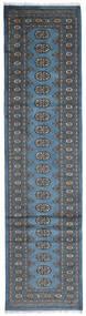 Pakistan Bokhara 2Ply Rug 79X307 Authentic  Oriental Handknotted Hallway Runner  Blue/Dark Grey (Wool, Pakistan)