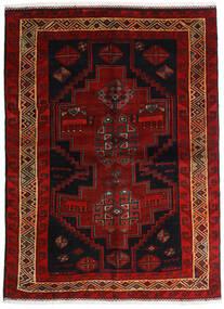 Lori Rug 156X211 Authentic Oriental Handknotted Dark Brown/Dark Red (Wool, Persia/Iran)
