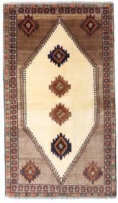 Qashqai Rug 128X224 Authentic  Oriental Handknotted Beige/Dark Brown (Wool, Persia/Iran)