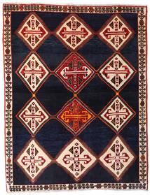 Qashqai Rug 150X192 Authentic  Oriental Handknotted Dark Purple/Dark Red (Wool, Persia/Iran)