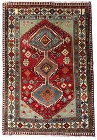 Qashqai Rug 136X197 Authentic  Oriental Handknotted Dark Red/Dark Grey (Wool, Persia/Iran)