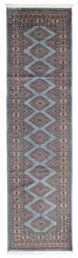 Pakistan Bokhara 2Ply Rug 77X294 Authentic  Oriental Handknotted Hallway Runner  Dark Grey/Light Blue (Wool, Pakistan)