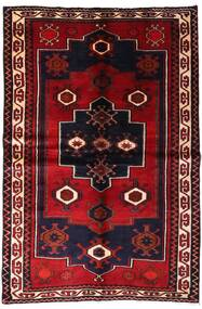 Lori Rug 155X231 Authentic  Oriental Handknotted Dark Red (Wool, Persia/Iran)