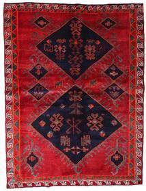 Lori Rug 172X226 Authentic Oriental Handknotted Crimson Red/Dark Purple (Wool, Persia/Iran)