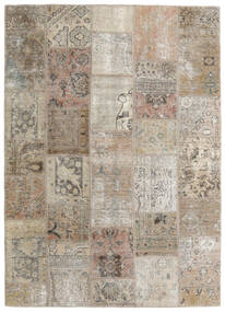 Patchwork - Persien/Iran Rug 141X199 Authentic  Modern Handknotted Light Grey/Light Brown (Wool, Persia/Iran)