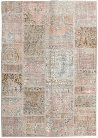 Patchwork - Persien/Iran Rug 141X200 Authentic Modern Handknotted Light Grey/Light Brown (Wool, Persia/Iran)
