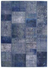 Patchwork - Persien/Iran Rug 140X198 Authentic Modern Handknotted Blue/Dark Blue/Light Purple (Wool, Persia/Iran)