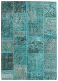 Patchwork - Persien/Iran Rug 140X200 Authentic Modern Handknotted Turquoise Blue/Turquoise Blue (Wool, Persia/Iran)