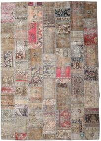 Patchwork - Persien/Iran Rug 252X354 Authentic  Modern Handknotted Light Grey/Dark Brown Large (Wool, Persia/Iran)