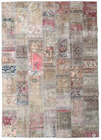 Patchwork - Persien/Iran Rug 251X355 Authentic  Modern Handknotted Light Grey/White/Creme Large (Wool, Persia/Iran)