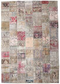 Patchwork - Persien/Iran Rug 248X352 Authentic  Modern Handknotted Light Grey/Pink (Wool, Persia/Iran)