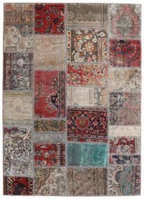 Patchwork - Persien/Iran Rug 141X198 Authentic  Modern Handknotted Light Grey/Dark Red (Wool, Persia/Iran)