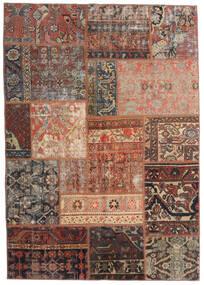 Patchwork - Persien/Iran Rug 140X198 Authentic Modern Handknotted Dark Red/Light Brown/Dark Brown (Wool, Persia/Iran)