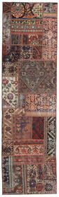 Patchwork - Persien/Iran Rug 68X246 Authentic  Modern Handknotted Hallway Runner  Dark Red/Dark Brown (Wool, Persia/Iran)