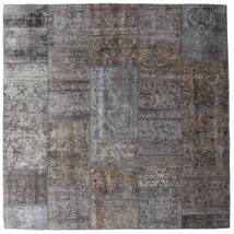 Patchwork - Persien/Iran Rug 204X204 Authentic Modern Handknotted Square Dark Grey/Light Grey/Brown (Wool, Persia/Iran)
