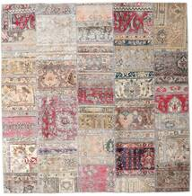 Patchwork - Persien/Iran Rug 203X205 Authentic  Modern Handknotted Square Light Grey/Light Pink (Wool, Persia/Iran)