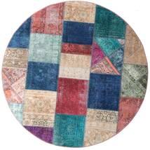 Patchwork - Persien/Iran Rug Ø 200 Authentic  Modern Handknotted Round Dark Blue/Purple (Wool, Persia/Iran)