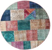 Patchwork - Persien/Iran Rug Ø 200 Authentic  Modern Handknotted Round Brown/Light Grey (Wool, Persia/Iran)