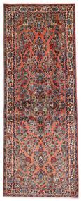 Sarouk Rug 81X204 Authentic Oriental Handknotted Hallway Runner Dark Brown/Light Brown (Wool, Persia/Iran)
