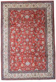 Sarouk Rug 205X300 Authentic  Oriental Handknotted Dark Brown/Dark Red (Wool, Persia/Iran)
