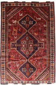Shiraz Rug 166X246 Authentic  Oriental Handknotted Dark Red/Rust Red (Wool, Persia/Iran)